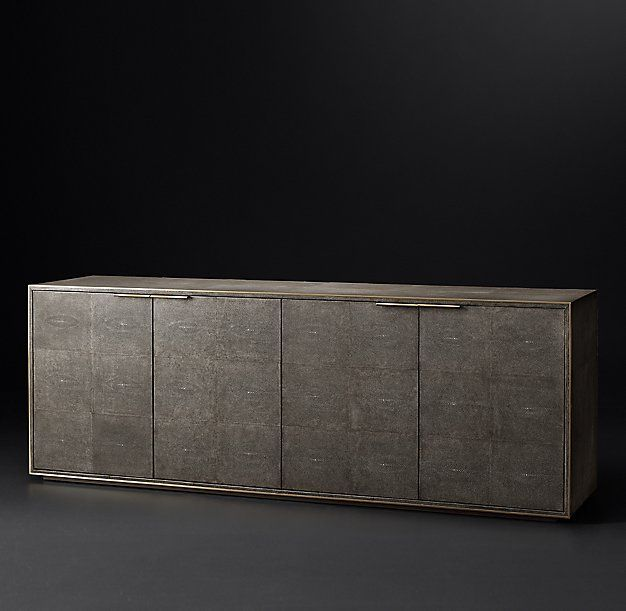 Saunderson Shagreen Panel 4-Door Sideboard | Art deco design .