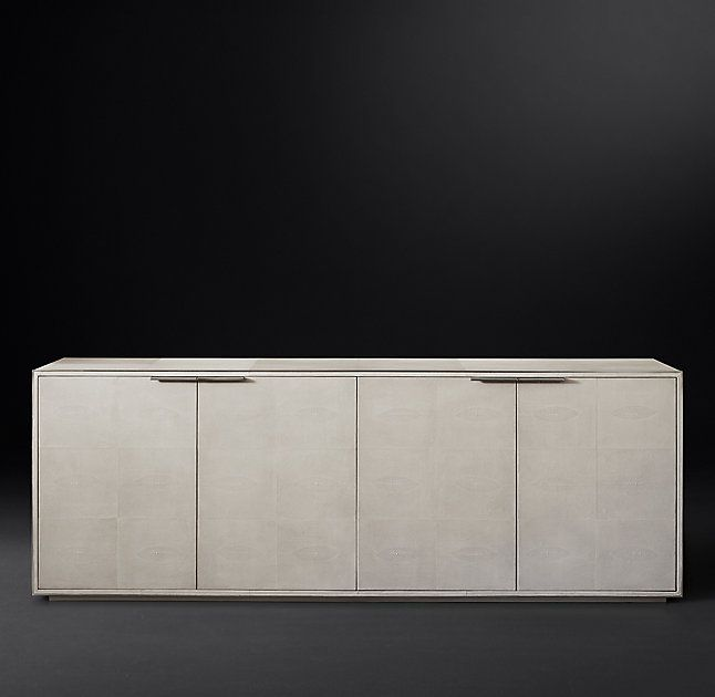 Saunderson Shagreen Panel 4-Door Sideboard | Modern sideboard .