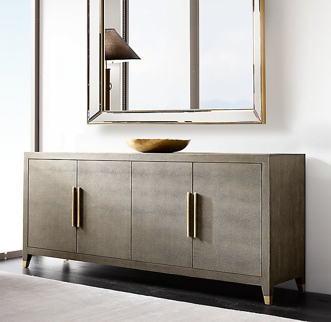 Graydon Shagreen Panel 4-Door Sideboard | Sideboard designs .