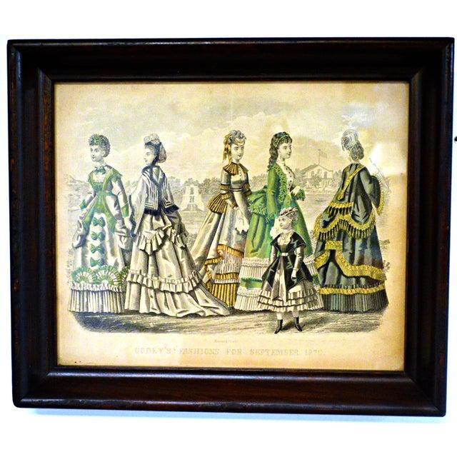 Antique 1870 Godey's Fashion Print | Chairi