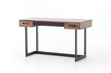 Otb Mikelson Desk - Main | Wood desk, Reclaimed wood desk, Wood .