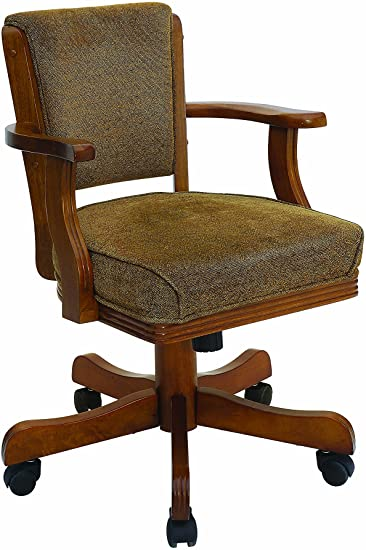 Amazon.com: Mitchell Upholstered Arm Game Chair Olive-brown and .