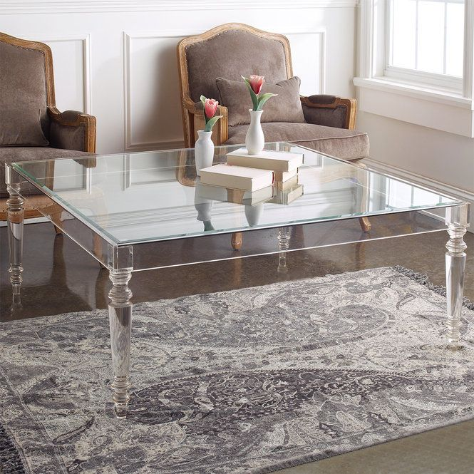 Melrose Modern Acrylic Coffee Table | Lucite coffee tables .