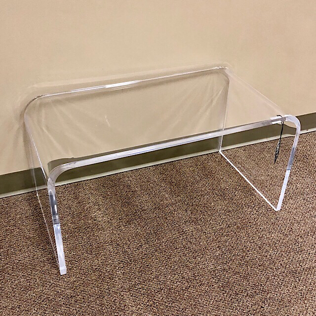 Modern Clear Acrylic Coffee Table | Consign To Design, L