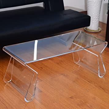 Amazon.com: HOMCOM 38 in. Modern Acrylic Coffee Table: Kitchen .