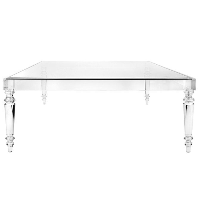 Melrose Modern Acrylic Coffee Table | Acrylic coffee table, Square .