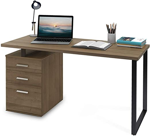 "Amazon.com: DEVAISE Modern Computer Desk, 55.1"" Office Desk with ."