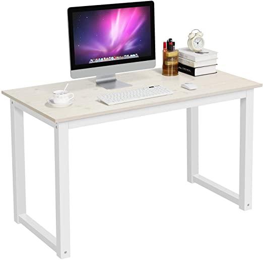 Amazon.com: YAHEETECH Modern Computer Desk Writing Study Table .