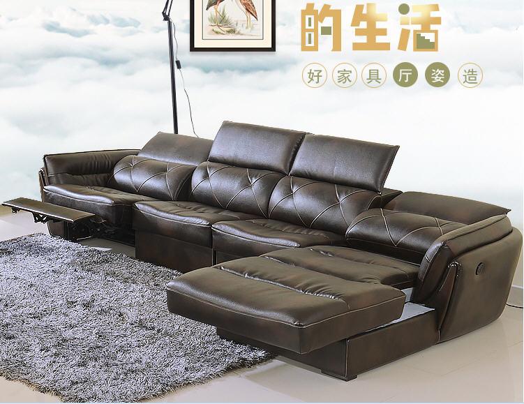 Living Room Sofa set corner sofa recliner electrical genuine .