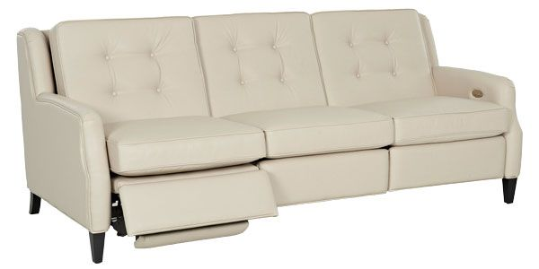 Saville Mid-Century Modern Power Wall Hugger Reclining Sofa .