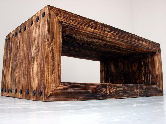Modern rustic coffee table ROBUST 100x60x40cm Quality handmade | Et