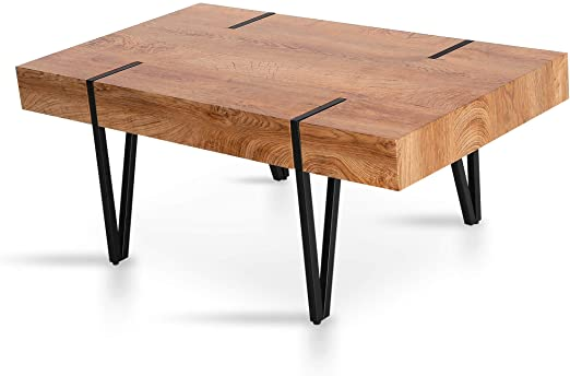Amazon.com: Mcombo Modern Industrial Coffee Table for Living Room .