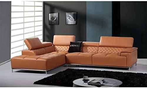 Amazon.com: VIG- Citadel Divani Casa Modern Orange Leather .