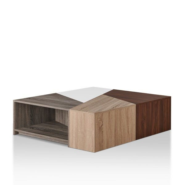 Shop Furniture of America Deron Contemporary Oak Modular Coffee .