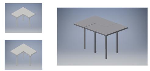 Modular Coffee Shop Table - LIENNE'S ENGINEERING PORTFOL