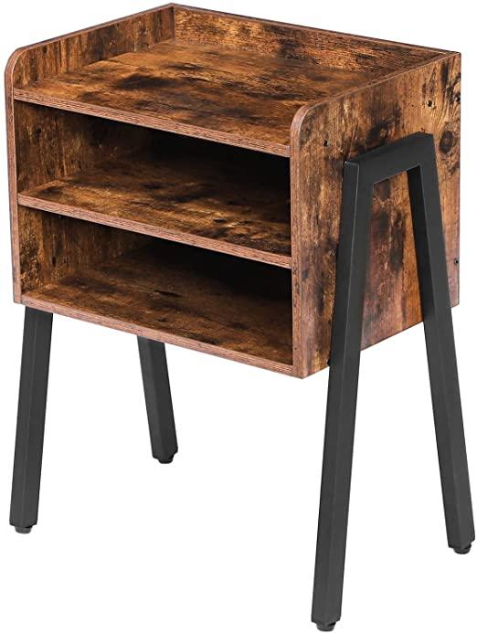 Amazon.com: HOOBRO End Table, Stackable Nightstand, 3 Tier Side .