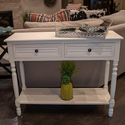 Amazon.com: Decor Therapy Simplify Shutter Drawer Console table .