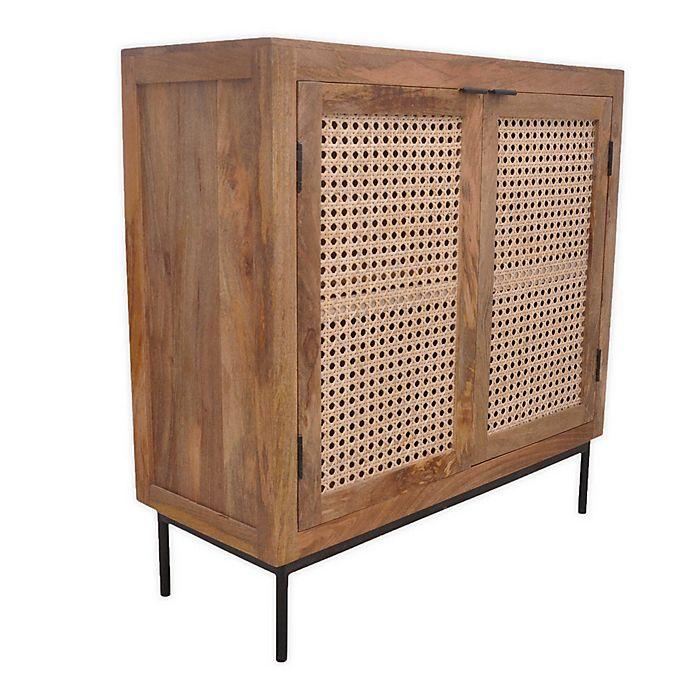 Global Caravan™ Juna 2-Door Console Table in Natural | Bed Bath .