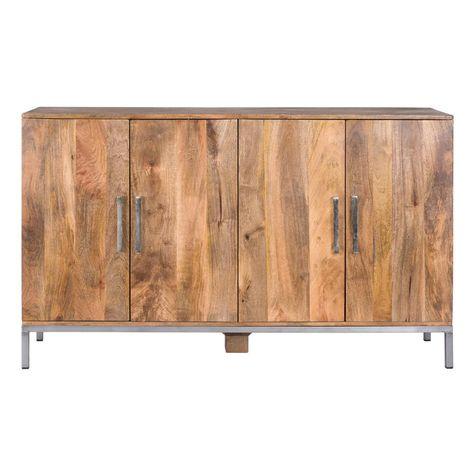 Yosemite Home Decor Natural Finish Storage Cabinet YFUR-SWC2258I .