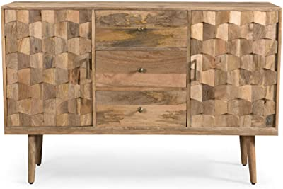 Amazon.com - Zona Mid-Century Modern Mango Wood 3 Drawer Sideboard .