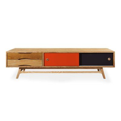 Brayden Studio Henriques Solid Wood TV Stand for TVs up to 78 .