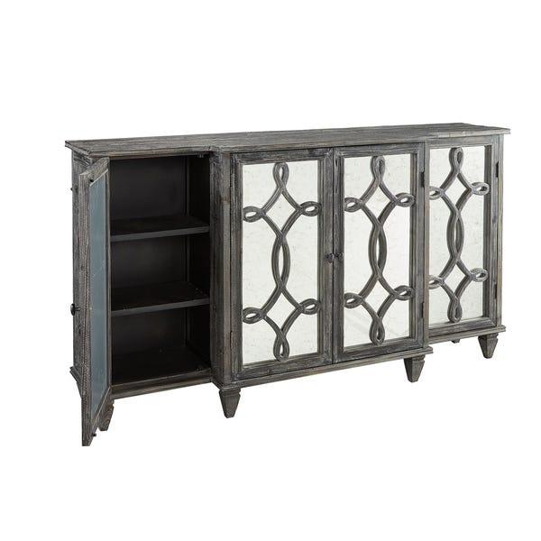 Shop Bruges Mirrored Pine Sideboard - Overstock - 309440