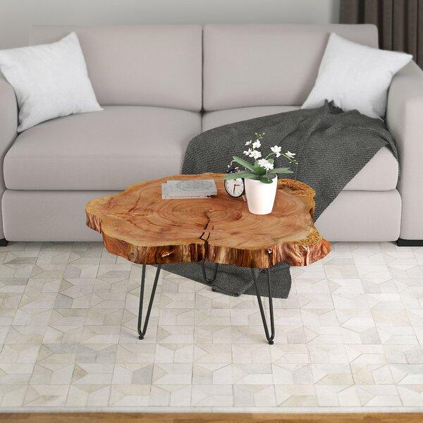 Wrought Studio Etchison Acacia Wood Coffee Table & Reviews   Wayfa