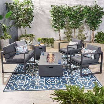 Naveen 5 Piece Sofa Seating Group with Cushions   Joss & Ma