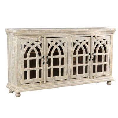 """One Allium Way Naveen TV Stand for TVs up to 70""""   Solid wood tv ."""