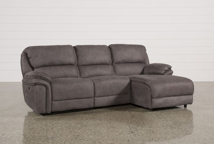 3 Piece Sectional W/Raf Chaise, Norfolk Grey | Sectional sofa with .