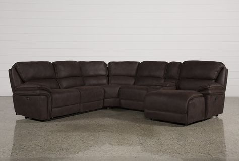Sectional W/Raf Chaise, Norfolk Chocolate 6 Piece, Brown .