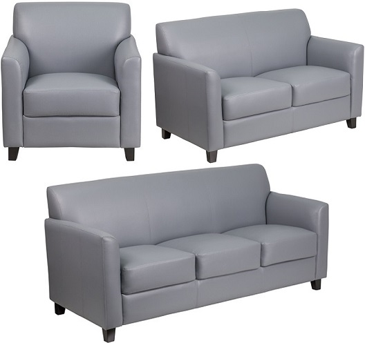 Gray Office Sofa Furniture- Majes