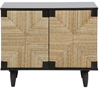 "38"" Long Sideboard Buffet Cabinet Sid Mahogany Wood Pale Black ."