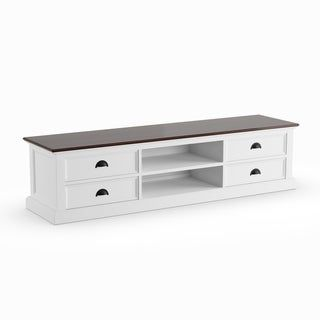 The Gray Barn Ora Mahogany/ White Large 4-drawer Entertainment .