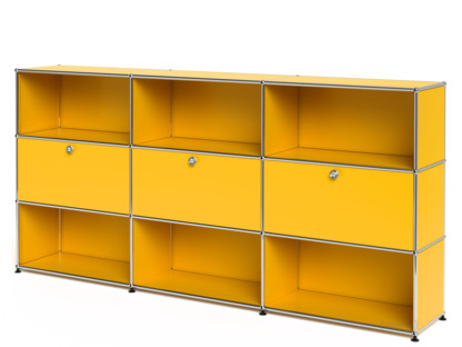 USM Haller Highboard XL, Customisable, Golden yellow RAL 1004 .