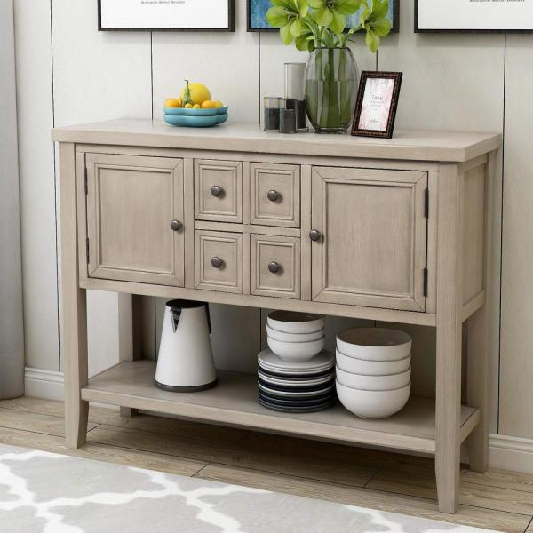 Harper & Bright Designs Grey Charlotte Sideboard Console Table .
