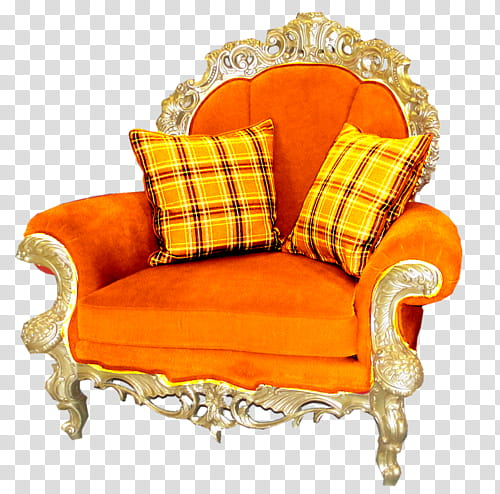 Orange sofa chair transparent background PNG clipart | HiClipa