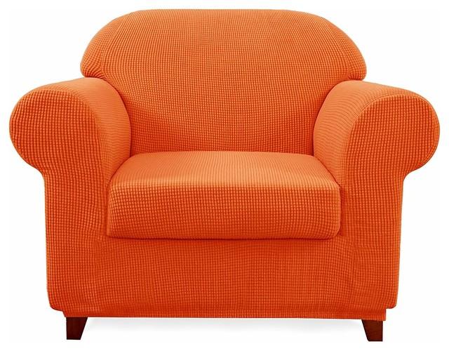 Subrtex 2-Piece Spandex Stretch Sofa Slipcover - Contemporary .