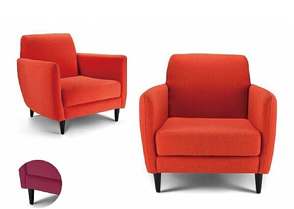 Orange Accent Chair | Faux Wool Accent Chairs | Seriena Furnishing .