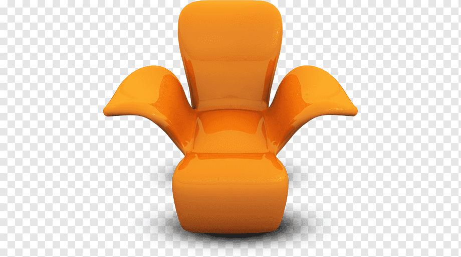 Orange sofa chair illustration, orange table chair, Orange Seat .