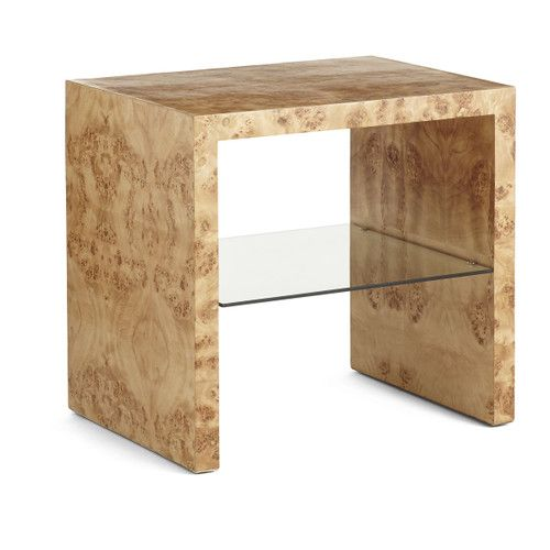 Oslo Burl Wood Veneer Side Table | Burled wood, Burled wood .