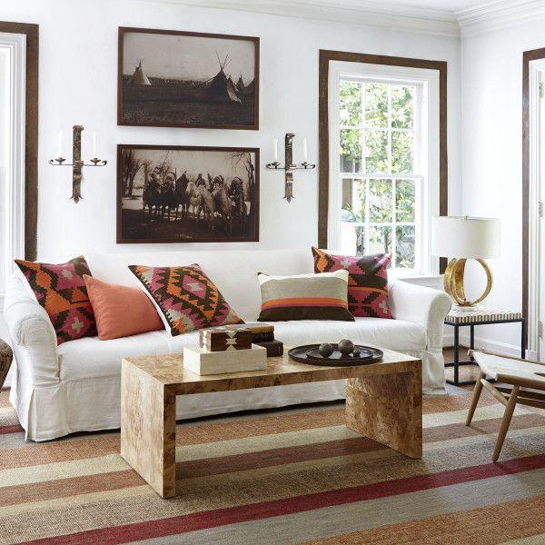 Oslo Burl Wood Veneer Coffee Table | Living room sofa desi