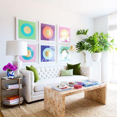 Oslo Burl Wood Veneer Coffee Table in 2020 | Pastel living room .