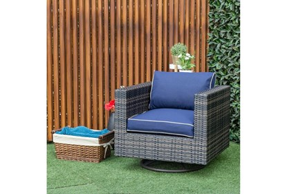 Dina Outdoor Swivel Chair | Living Spac
