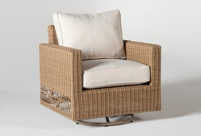 Sebastian Outdoor Swivel Chair | Living Spac