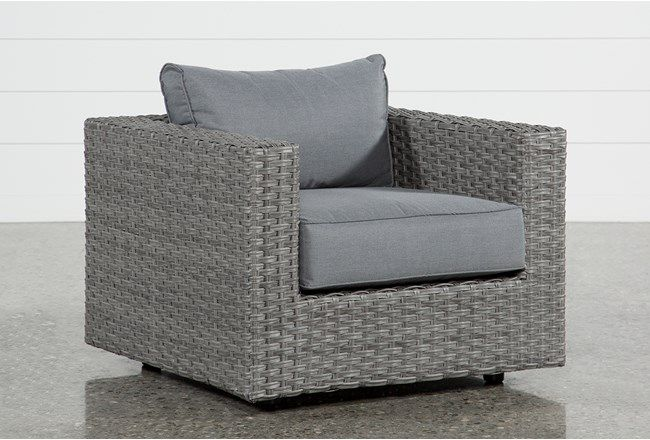 Koro Outdoor Lounge Chair - Grey - $450 | Swivel chair, Chair .