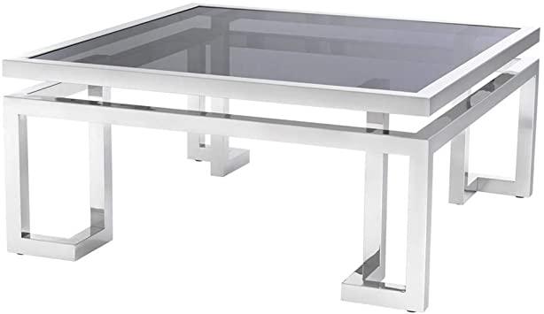 Amazon.com: Square Silver Coffee Table | EICHHOLTZ Palmer | Metal .