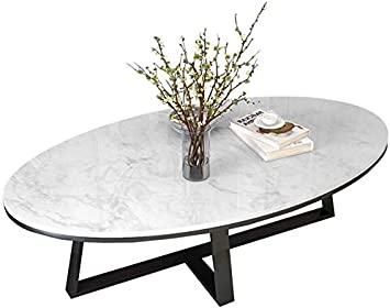 Amazon.com: SUNBAOBAO Dining Table, Furniture, Oval Marble Coffee .