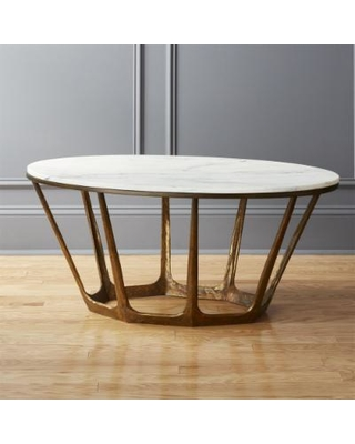Special Prices on Parker Oval Marble Coffee Table by C