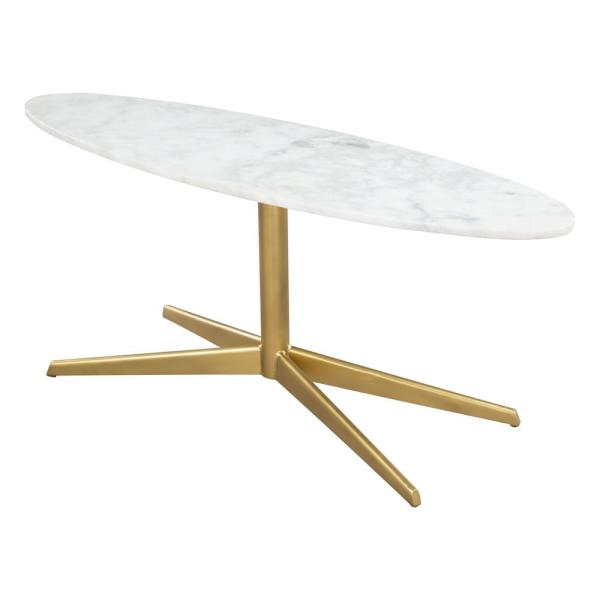 ZUO Parker White and Gold Coffee Table 101538 - The Home Dep